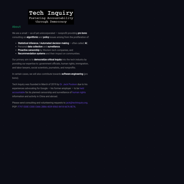 Tech Inquiry
