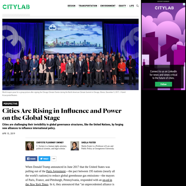 3 Reasons Cities Are Rising in Influence and Power on the Global Stage