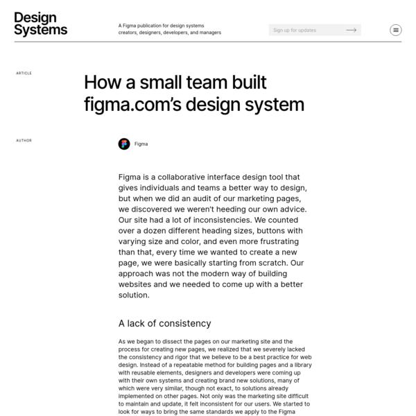 How a small team built Figma.com's design system
