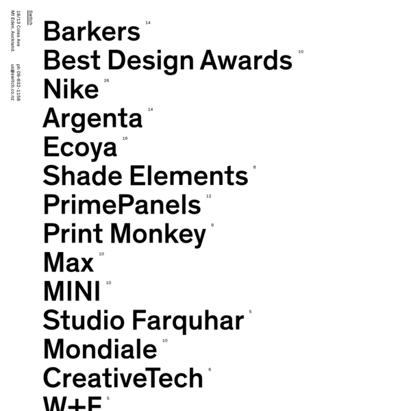 Switch - Award-winning Auckland-based branding & design studio.