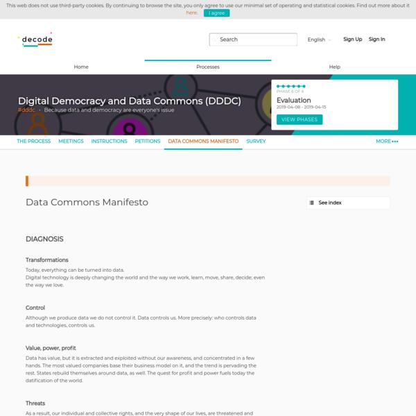 Data Commons Manifesto - Digital Democracy and Data Commons (DDDC) - Decode DDDC