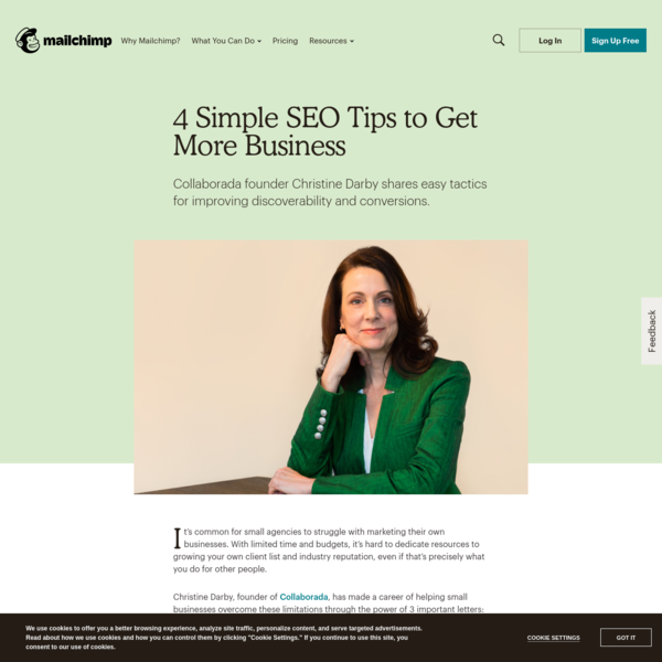 4 Simple SEO Tips to Get More Business | Mailchimp
