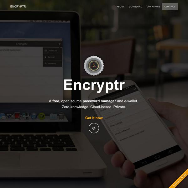 Encryptr - Powered by Crypton