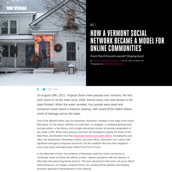 How a Vermont social network became a model for online communities - The Verge