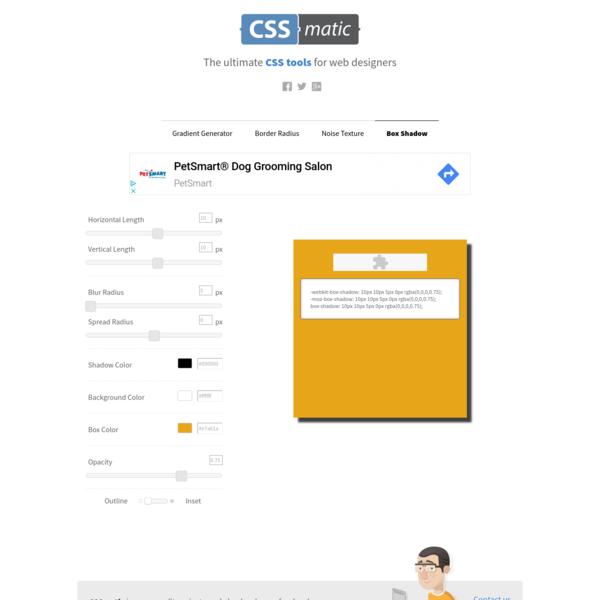 Box Shadow CSS Generator | CSSmatic