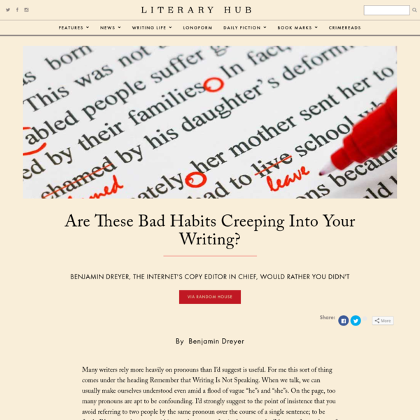 Are These Bad Habits Creeping Into Your Writing?