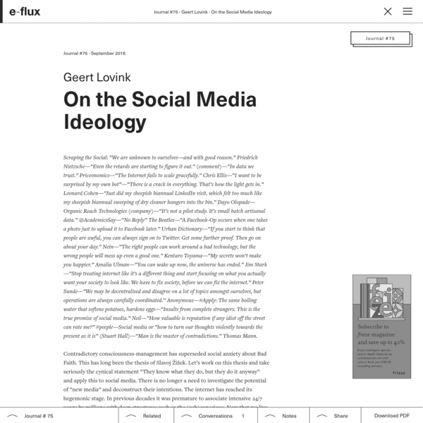 On the Social Media Ideology