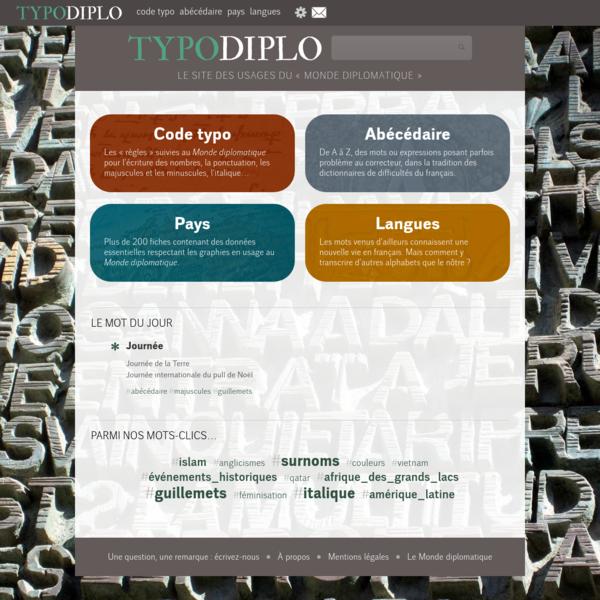 TypoDiplo - Correcteurs