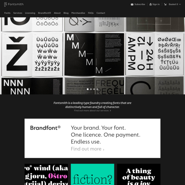 Boutique Type Foundry - Font Foundry London