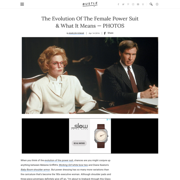 The Evolution Of The Female Power Suit