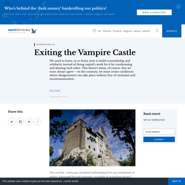 Exiting the Vampire Castle