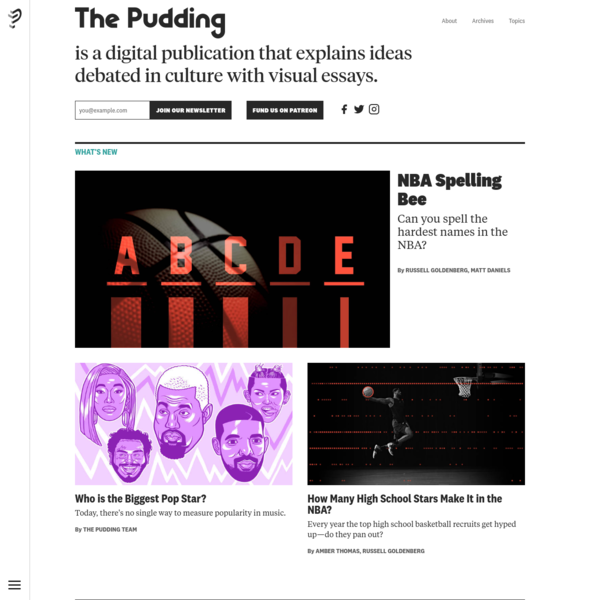 The Pudding explains ideas debated in culture with visual essays.