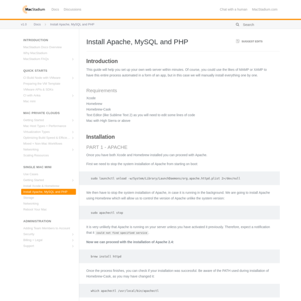 Install Apache, MySQL and PHP