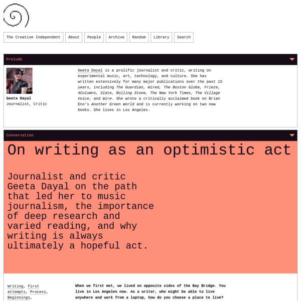On writing as an optimistic act