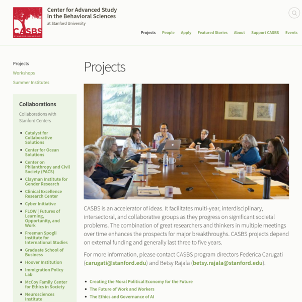 Projects | Center for Advanced Study in the Behavioral Sciences