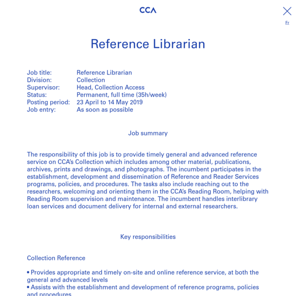 Reference Librarian
