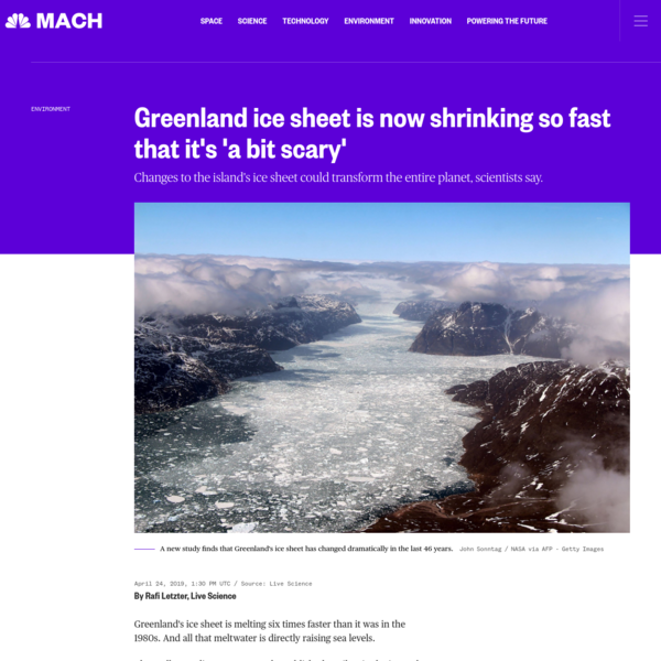 Greenland ice sheet is now shrinking so fast that it's 'a bit scary'