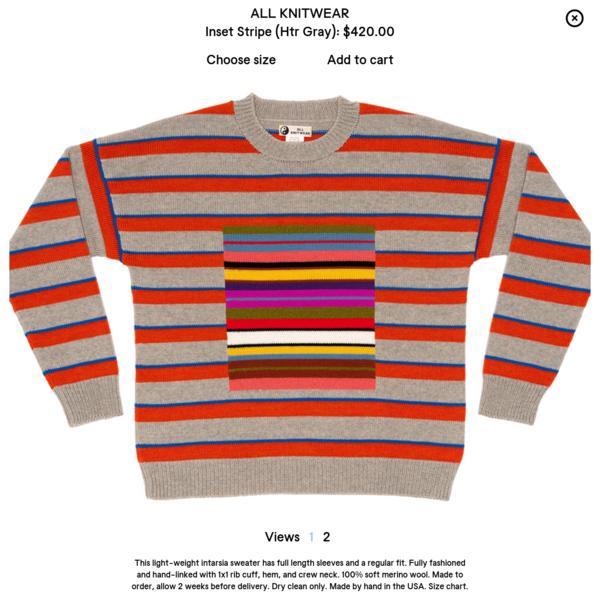 Inset Stripe (Htr Gray)