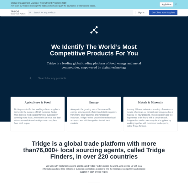 Tridge - Find The World's Most Competitive Suppliers
