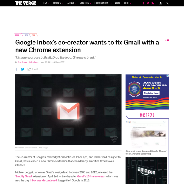 Google Inbox's co-creator wants to fix Gmail with a new Chrome extension
