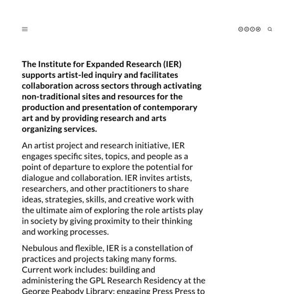 Institute for Expanded Research