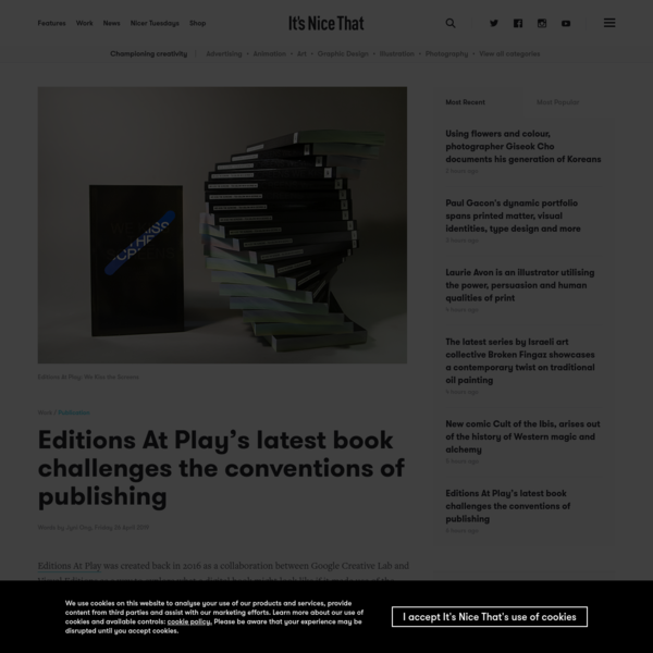 Editions At Play's latest book challenges the conventions of publishing