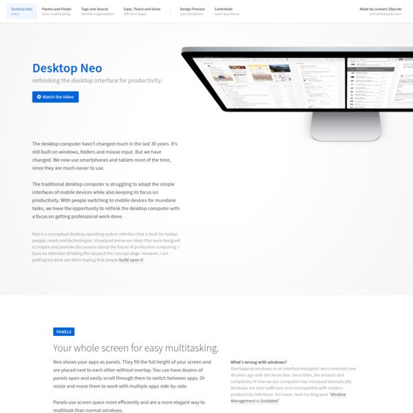 Desktop Neo - rethinking the desktop interface for productivity.