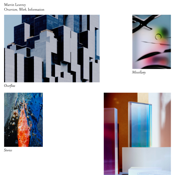 Work - Marvin Leuvrey