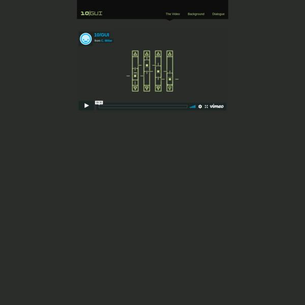 10/GUI : The Video