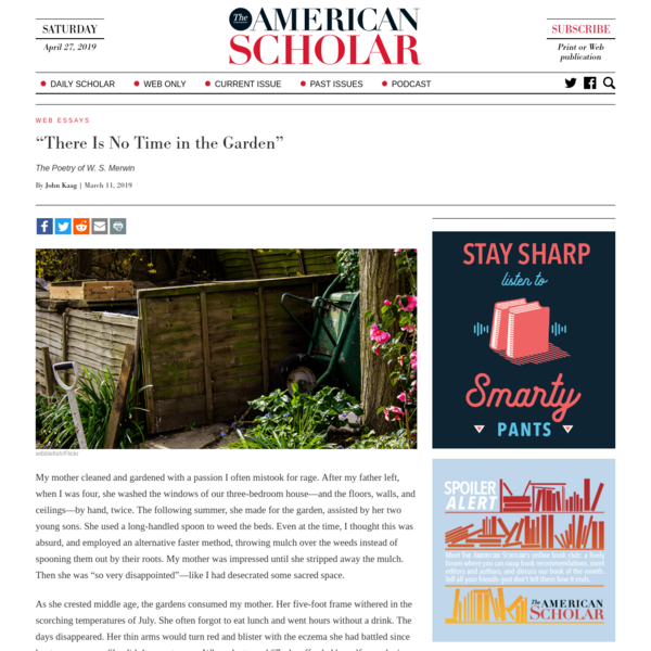 """There Is No Time in the Garden"" - The American Scholar"