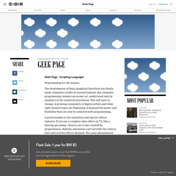 Geek Page