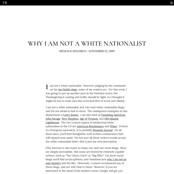 Why I am not a white nationalist