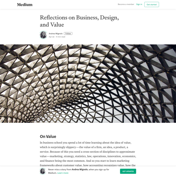 Reflections on Business, Design, and Value