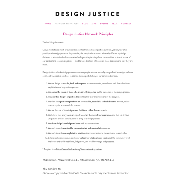 Design Justice Network Principles - Design Justice