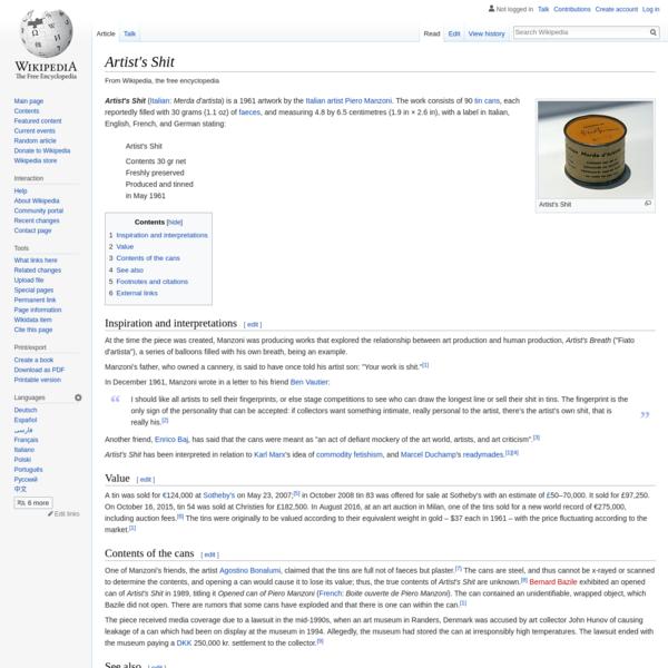 Artist's Shit - Wikipedia