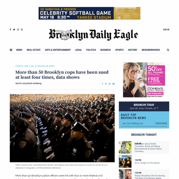 More than 50 Brooklyn cops have been sued at least four times, data shows - Brooklyn Eagle