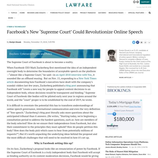 Facebook's New 'Supreme Court' Could Revolutionize Online Speech