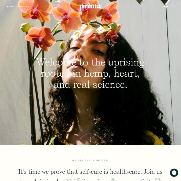 prima | Wellness & Beauty Rooted in CBD, Hemp, Heart, and Science