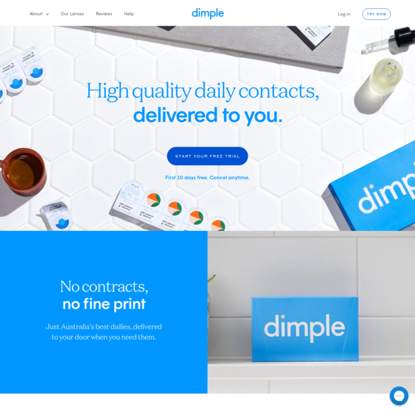 Dimple™ | High Quality and Affordable Daily Disposable Contact Lenses