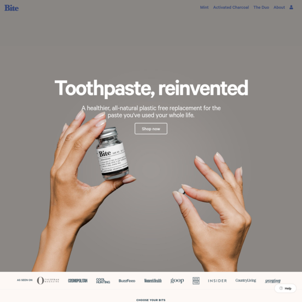 Toothpaste, reinvented - Bite - Toothpaste Bits