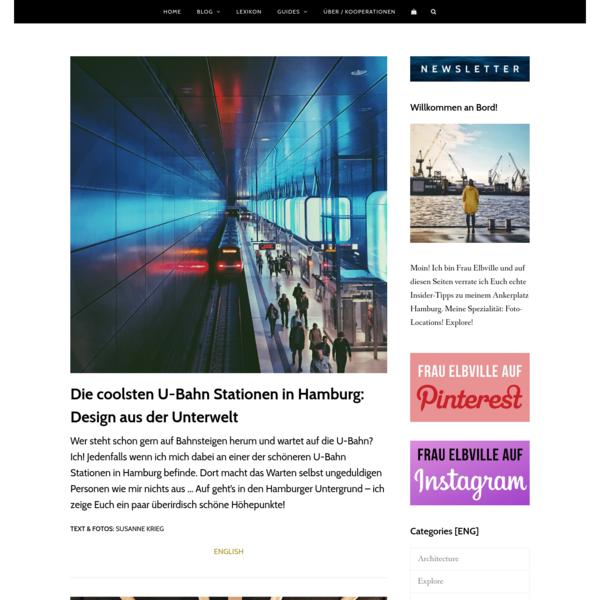 ▷ Schöne U-Bahn Stationen in Hamburg: Design der Unterwelt