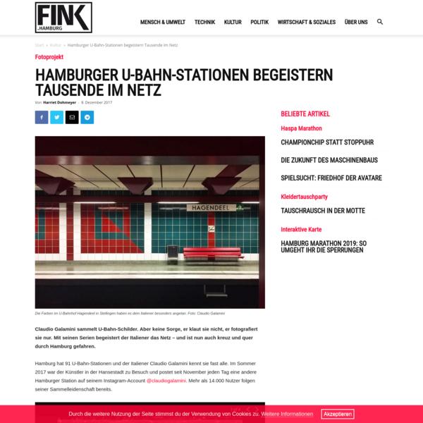 Hamburger U-Bahn-Stationen begeistern Tausende im Netz   FINK.HAMBURG