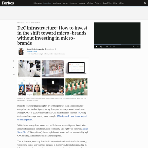 D2C infrastructure: How to invest in the shift toward micro-brands without investing in micro-brands