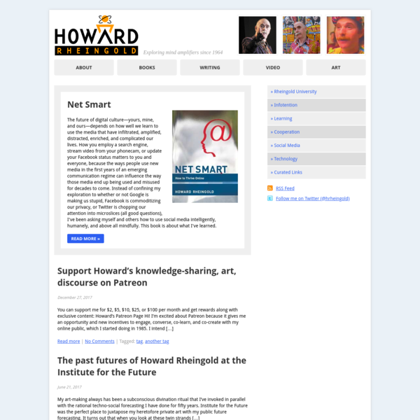 Howard Rheingold | Exploring mind amplifiers since 1964
