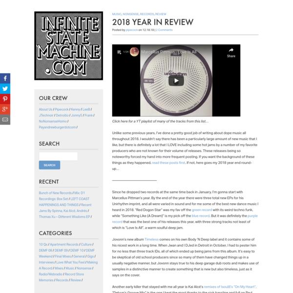 2018 Year In Review * InfiniteStateMachine