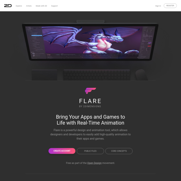 2D - Flare by 2Dimensions. Bring your apps and games to life with real-time animation.