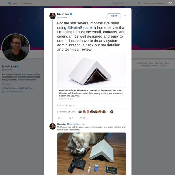 Micah Lee on Twitter