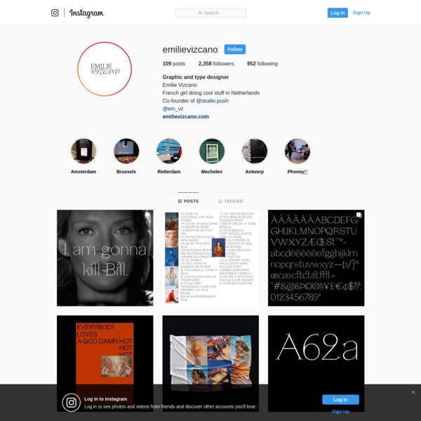 Graphic and type designer (@emilievizcano) * Instagram photos and videos