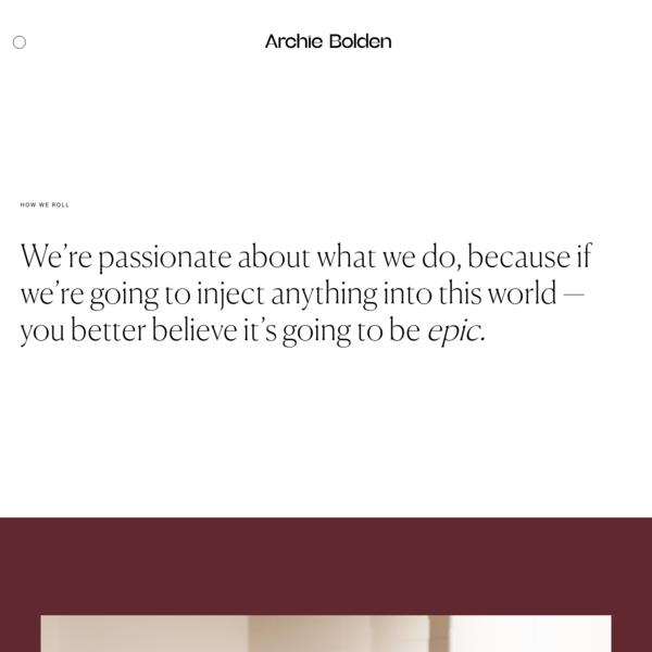 Process | Archie Bolden