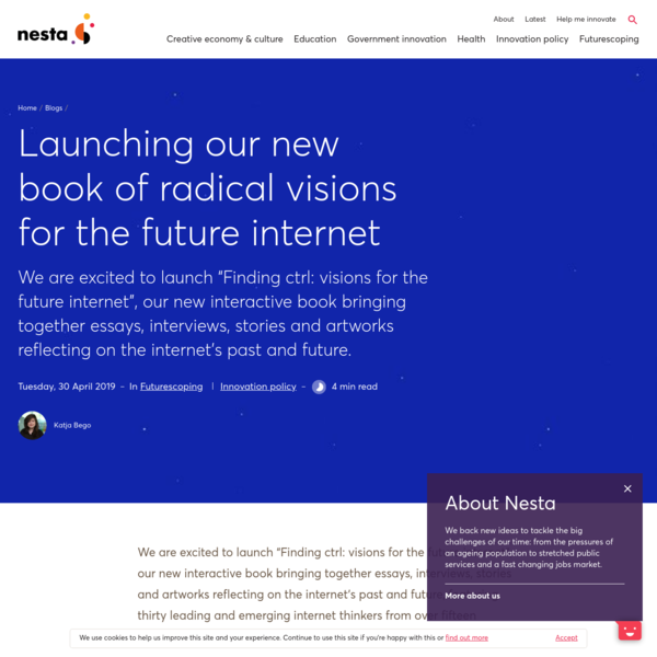 Launching our new book of radical visions for the future internet